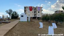 15.11.2020 *** DW-Korrespondent auf Zypern, Loukianos Lyritsas. Am Strand von Varosia, Zypern: Vorbereitungen für den Besuch des türkischen Präsidenten Erdogan.