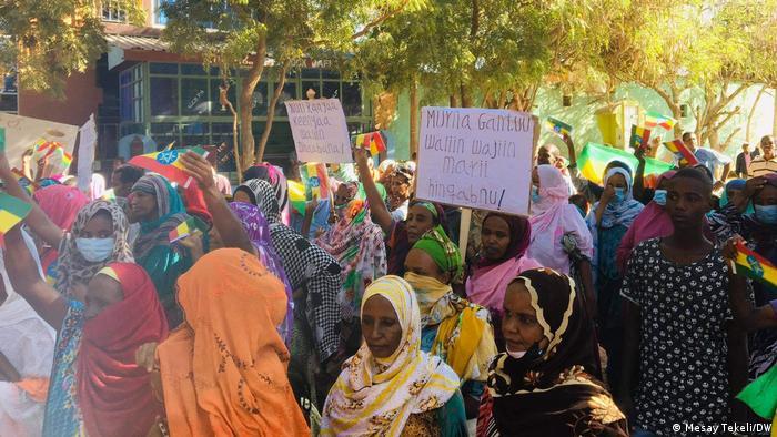 Protestas a favor del gobierno etíope en Dire Dawa.