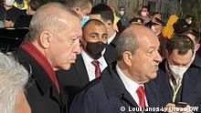 Zypern I Präsident Recep Tayyip Erdogan in Varosha