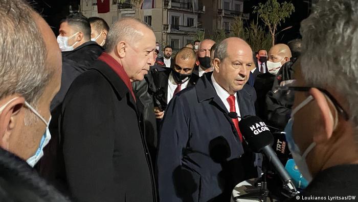 Zypern I Präsident Recep Tayyip Erdogan in Varosha (Loukianos Lyritsas/DW)