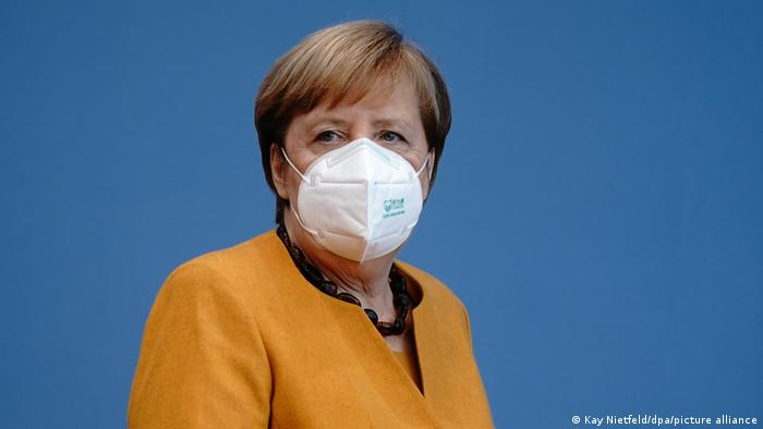 Bundeskanzlerin Merkel Coronavirus Maske