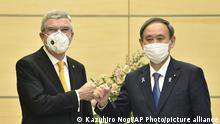 Japan Olympia Tokio 2020 Yoshihide Suga und Thomas Bach