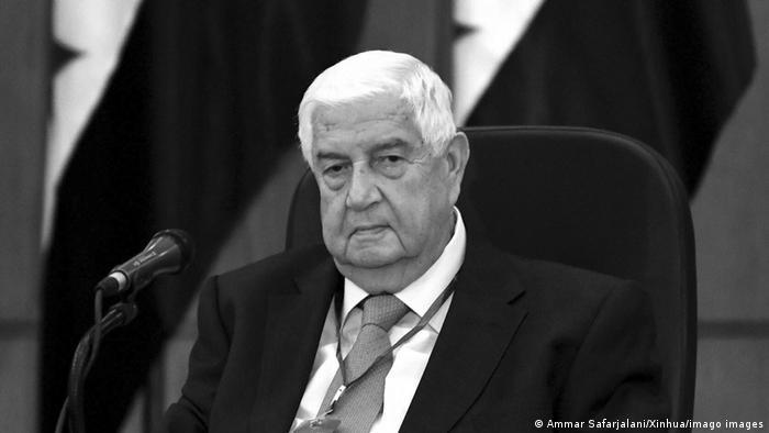 El fallecido ministro de Exteriores sirio Walid al Mouallem.