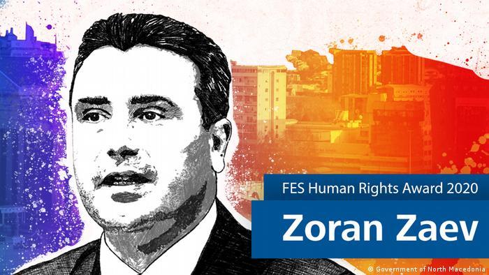 Menschenrechtspreis der Friedrich-Ebert-Stiftung 2020 für Zoran Zaev