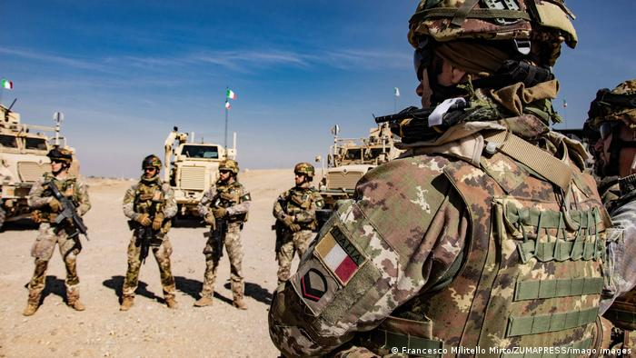 Italian soldiers after a mission at Camp Arena, Herat, Afghanistan