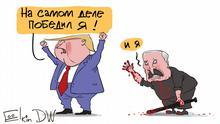 Karikatur von Sergey Elkin Trump und Lukaschenko