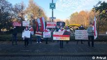 Deutschland |Demonstration Belarussische Diaspora | Firma Eickhoff