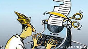 Karikatur der iranischen Karikaturistin Firoozeh Mozafari