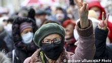 Belarus Proteste der Senioren