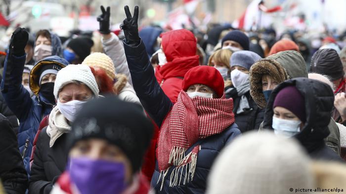 Акция протеста в Минске, 16 ноября