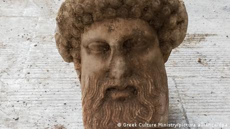 Marble head of Hermes