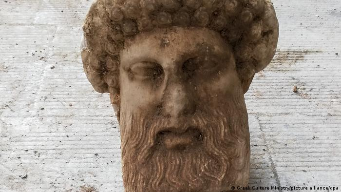Marble head of Hermes