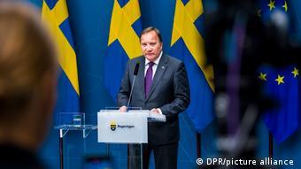 Premiê Stefan Löfven discursa à nação