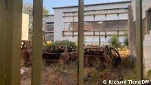 Burkina Faso verbranntes Parlament