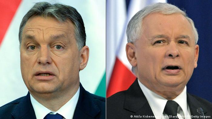 Premierul Ungariei, Viktor Orban şi liderul partidului conservator PiS (Lege şi Justiţie), Jaroslaw Kaczynski - unii dintre cei mai cunoscuţi rebeli în UE