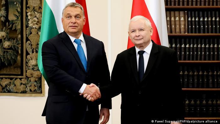 Premier Węgier Viktor Orban i Jarosław Kaczyński