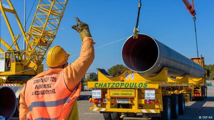 Головна частина газопроводу TAP, 550 кілометрів, проходить територією Греції