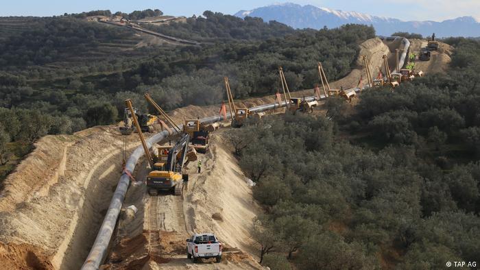 Прокладання Трансадріатичного трубопроводу TAP в горах Албанії