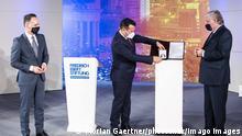 وزير الخارجية الألماني خلال حضور فعاليات تسليم جائزة حقوق الإنسان التي تقدمها مؤسسة فريدريش إيبرت