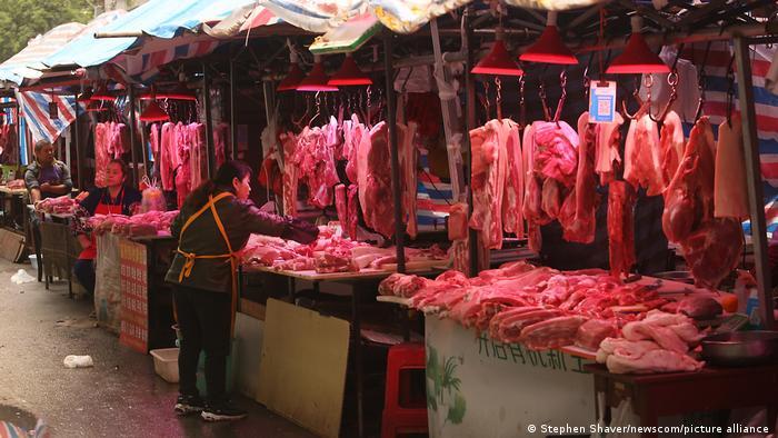 China Wuhan Markt Schweinefleisch Coronavirus