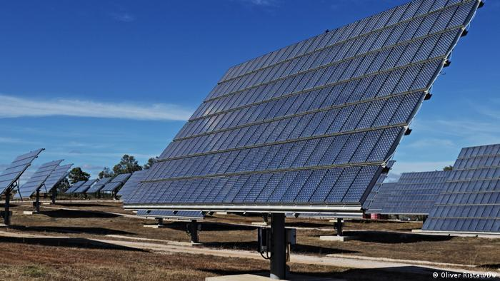 Solar farm with huge panels