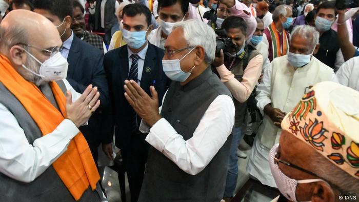 Indien neue Regierung von Nitish Kumar wurde vereidigt in Bundesstaat Bihar