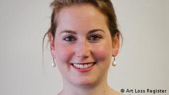Amelie Ebbinghaus, of the Art Loss Register, smiling