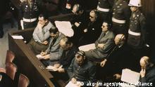 Главные нацистские преступники на скамье подсудимых