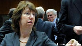 EU High Representative for Foreign Affairs Catherine Ashton in Brussels