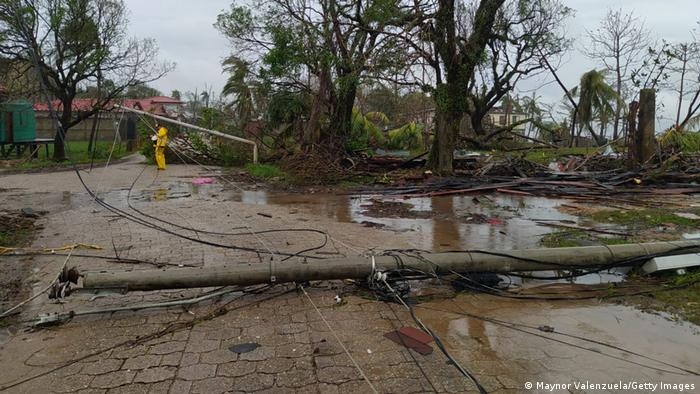 Así dejó el huracán Iota este lugar en Puerto Cabezas, Nicaragua.