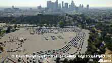 BdTD | USA Los Angeles | Autoschlange bei Coronavirus Teststation