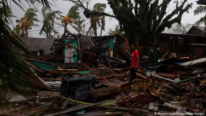 Nicaragua: destrucción después del huracán Iota