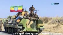 Still aus äthiopischem Staatsfernsehen | Äthiopisches Militiär