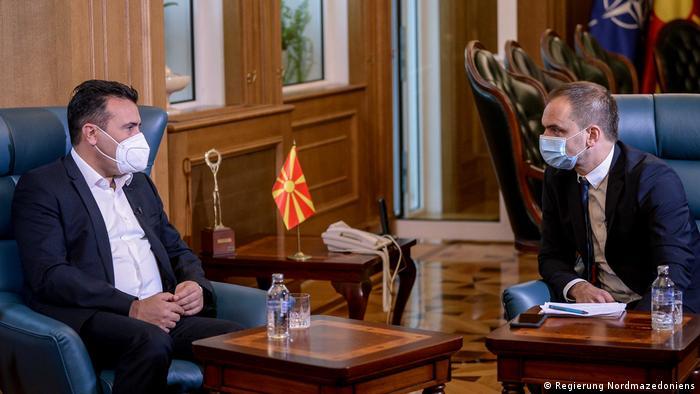 Zaev i Boris Georgievski, urednik programa DW na makedonskom