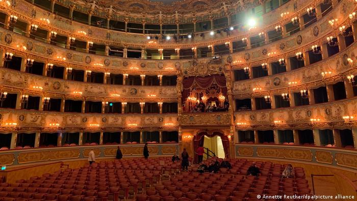 Ansicht des Saales der Oper von Venedig