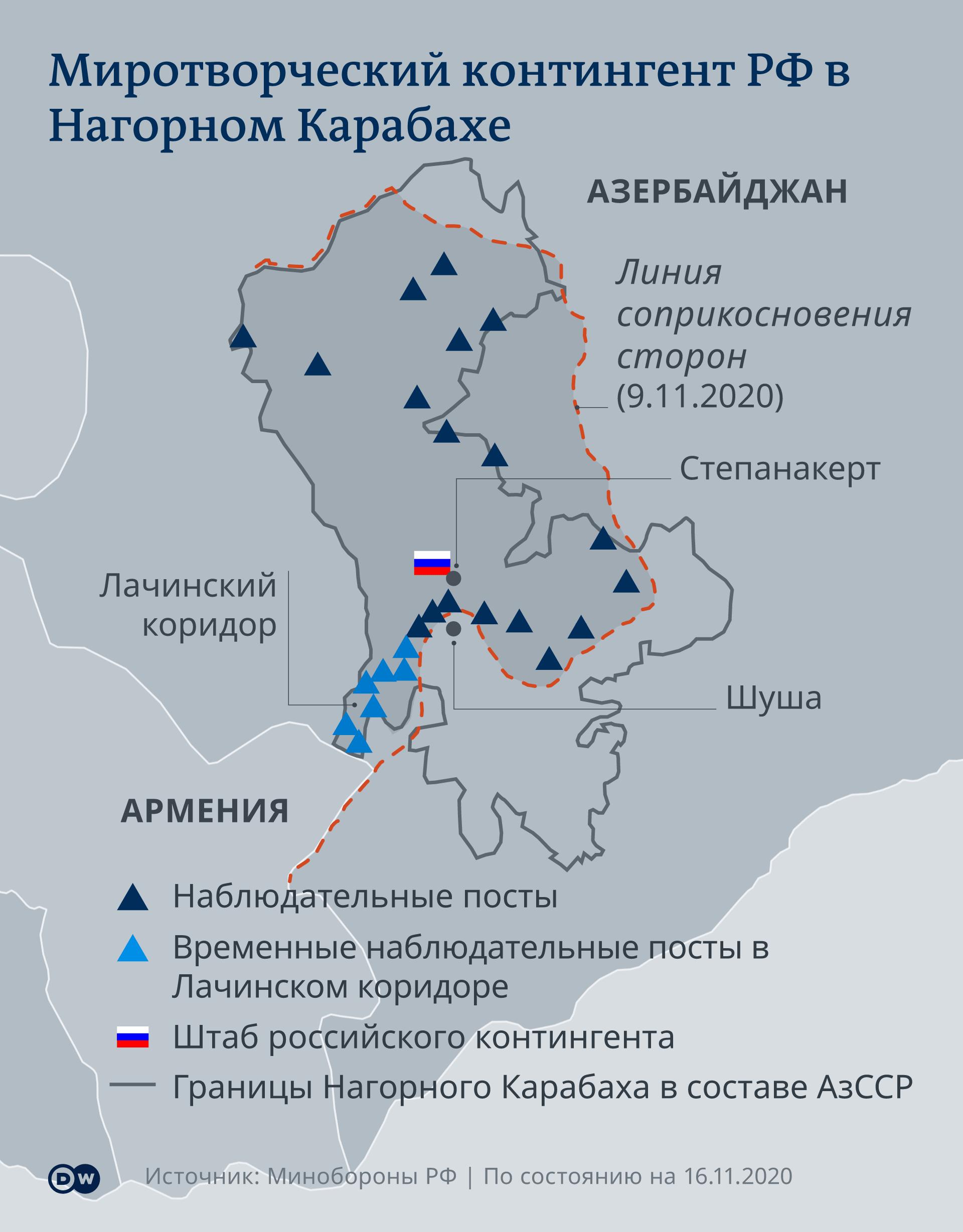 Infografik russische Friedenstruppen in Berg-Karabach RU