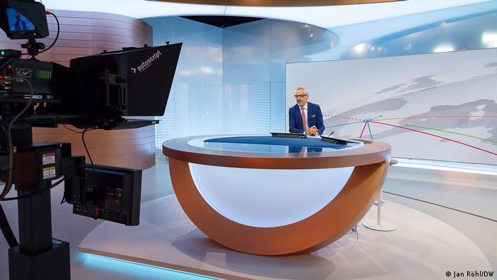 Studio der Sendung DW-News