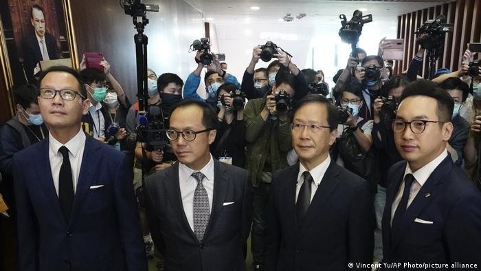 Hongkong | Gesetzgeber | Carrie Lam, Dennis Kwok, Kenneth Leung, Kwok Ka-ki und Alvin Yeung