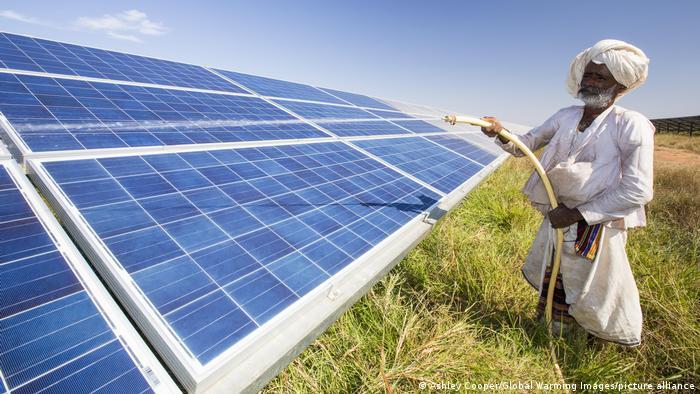 Asia's largest solar popwer station, the Gujarat Solar Park, in Gujarat, India