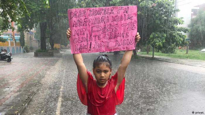 Child climate activist Licypriya Kangujam protests in Delhi