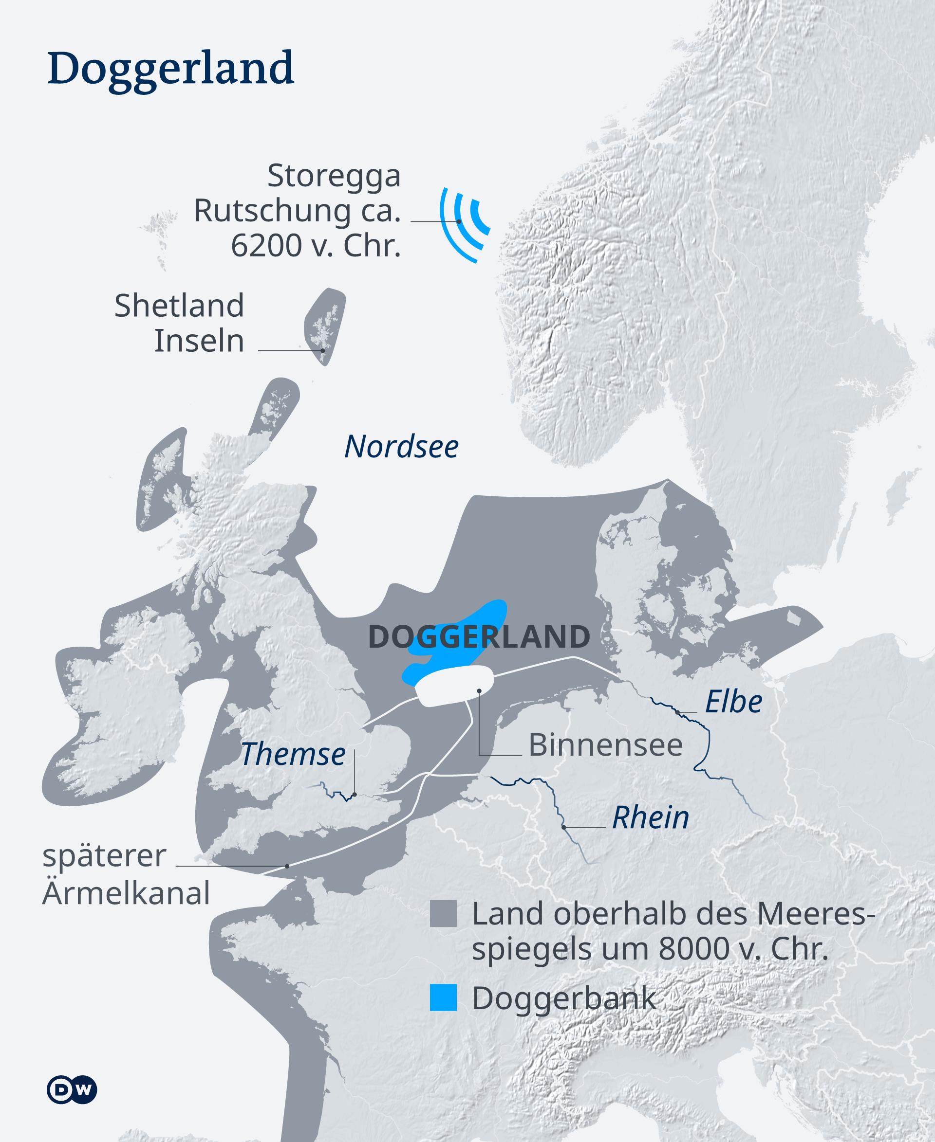 Infografik Karte Doggerland