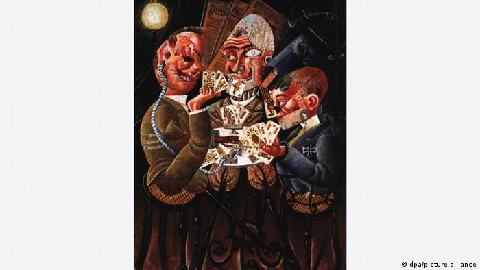 'The skat players,' a painting by Otto Dix