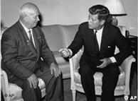 Krushov e Kennedy: negociações em 1961