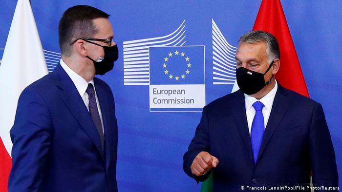 Szefowie rządów Polski i Węgier: Mateusz Morawiecki i Victor Orban