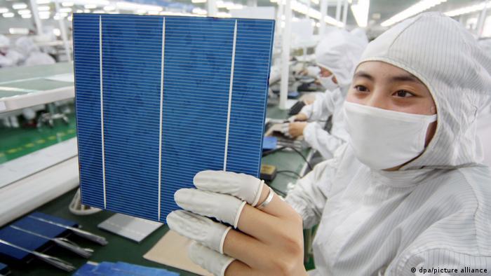 Produktion von solarzellen in China