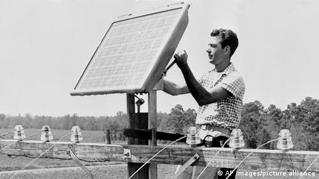The first sun-powered telephone call