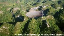 Puerto Rico Arecibo |Teleskop, Schaden