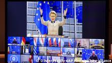 Brüssel EU-Videogipfel |Ursula von der Leyen, Präsidentin der Europäischen Kommission