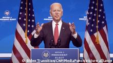 USA Wilmington | Pressekonferenz Joe Biden nach Videokonferenz mit National Governors Association