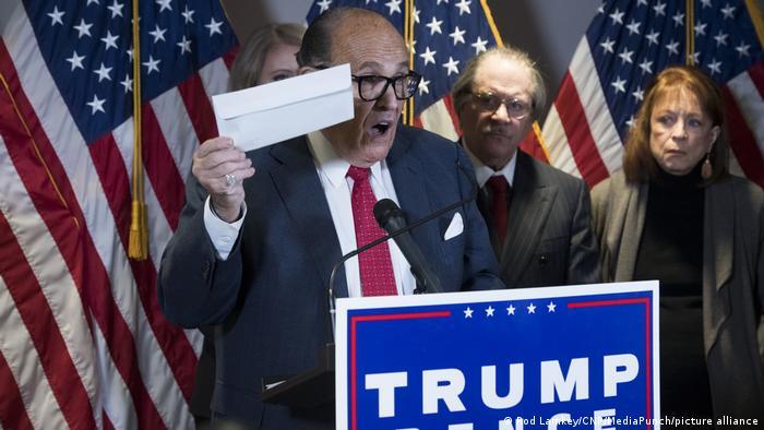 USA Washington | Pressekonferenz Rudy Giuliani zu den Wahlergebnissen